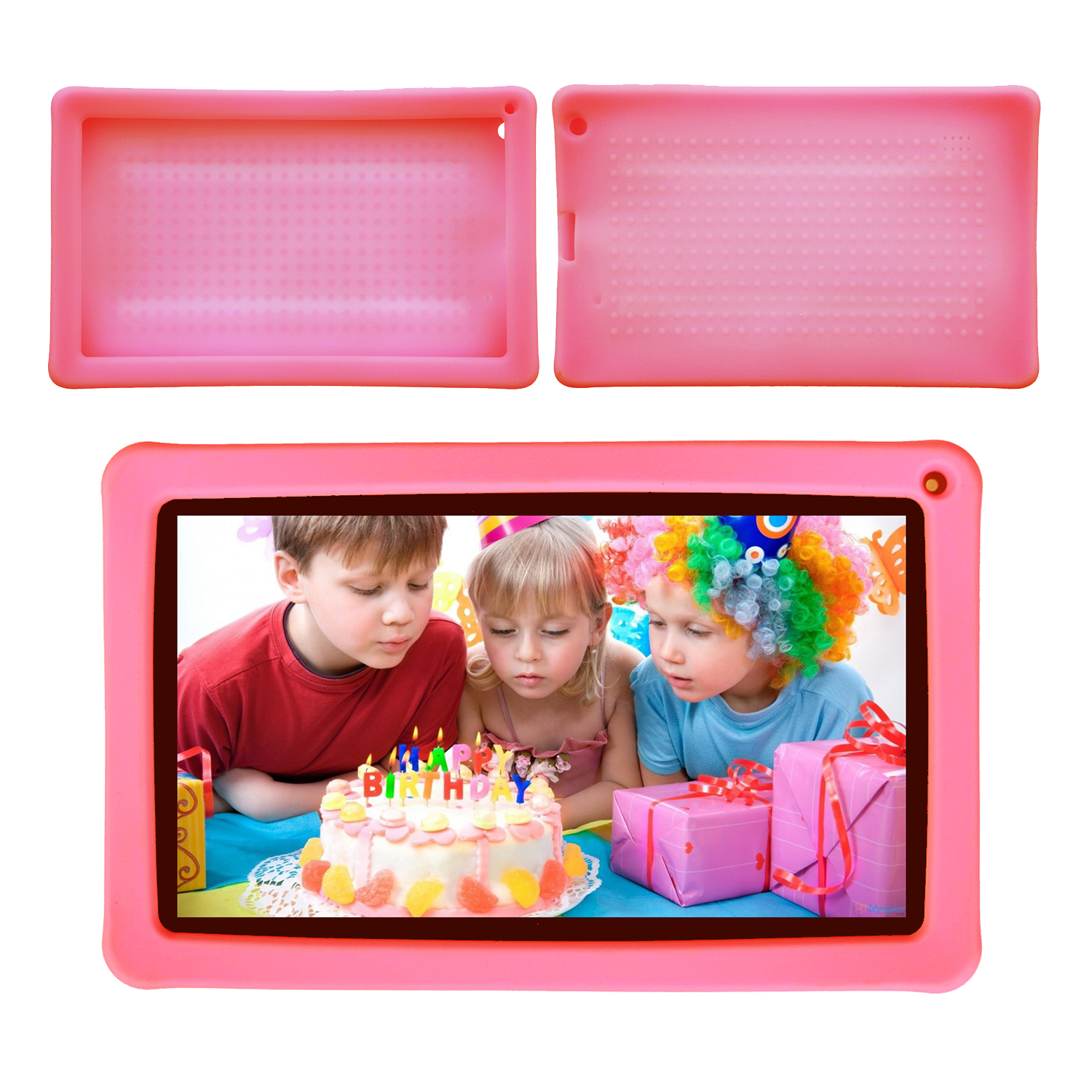 Contixo Defender Series Silicone 9 inch Android Tablet Cover Case (Pink)