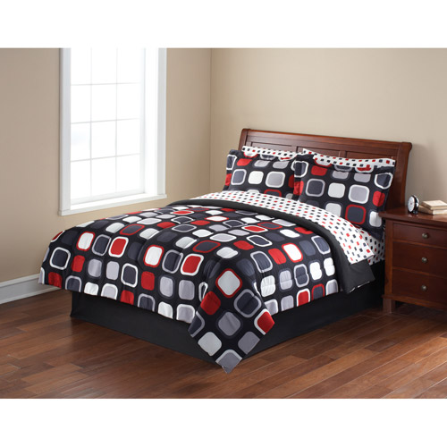 Mainstays Coordinated Bedding Set, Evans Geometric