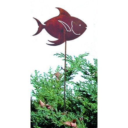 Tropical Fish Rusted Stake
