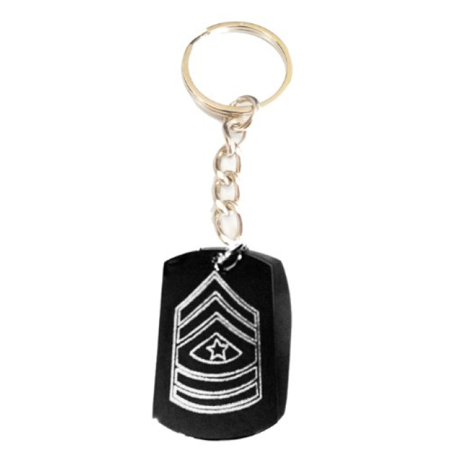 Army Military Officer Rank Sargeant Major Logo Symbol - Metal Ring Key Chain Keychain