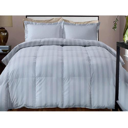 Hotel Grand  Damask Stripe 800 Thread Count Cotton Rich Down Alternative Comforter
