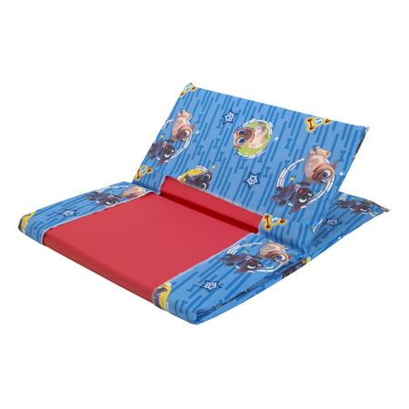 Disney Puppy Dog Pals Blue, Grey, Yellow and Red Toddler Nap Pad Sheet