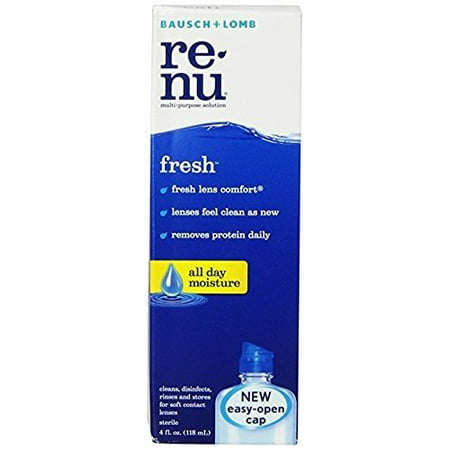 Bausch + Lomb ReNu Fresh All Day Moisture Multi-Purpose Eye Contact Lens Solution 4 Fluid