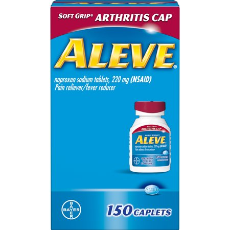Aleve Soft Grip Arthritis Cap Pain Reliever/Fever Reducer Naproxen Sodium Caplets, 220 mg, 150 Ct