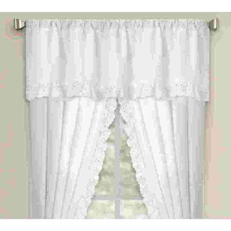 Ruffled Eyelet Window Panel Pair and Valance Collection (sold - Eyelet Window