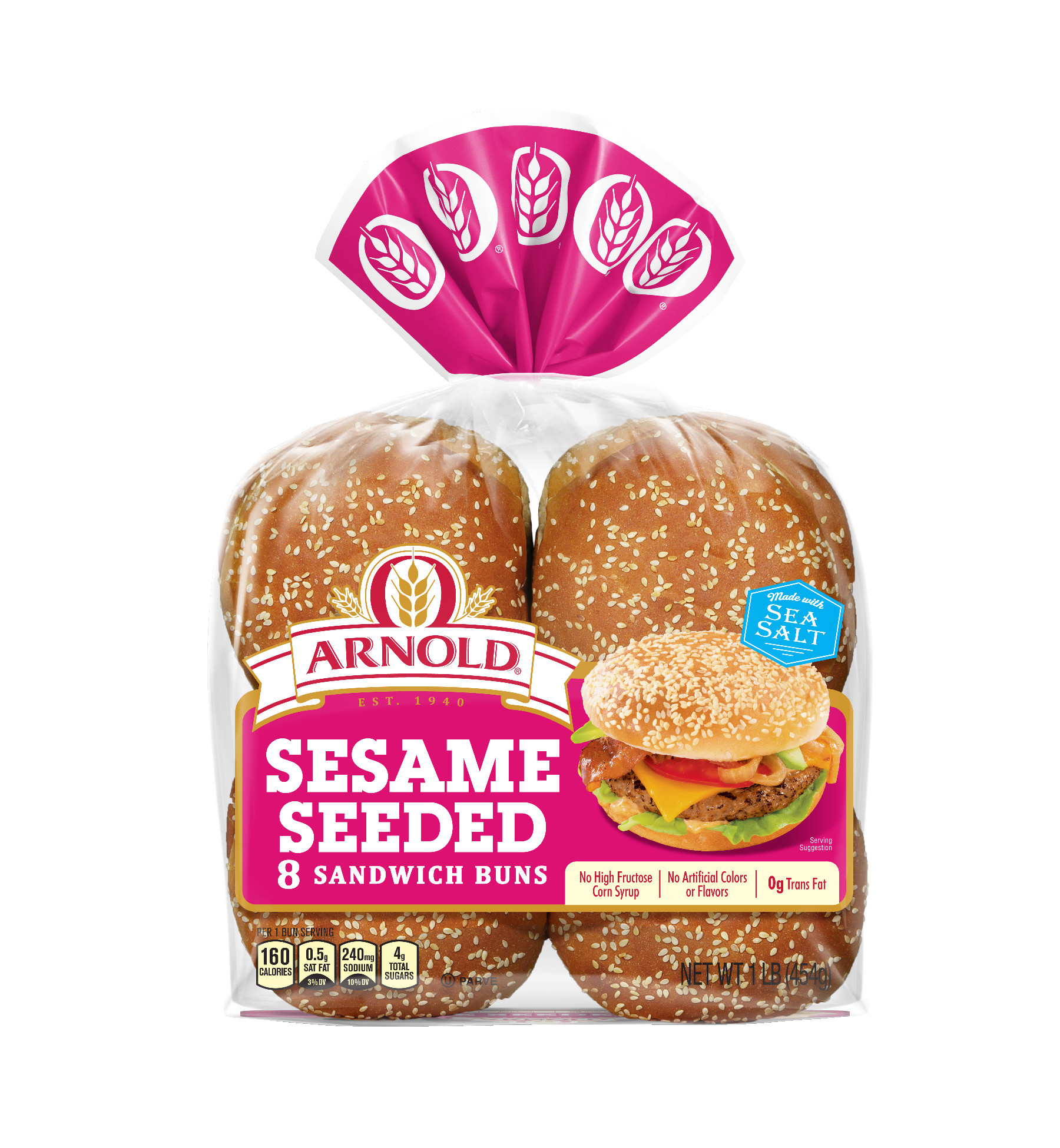 Arnold Sesame Seeded Sandwich Buns, 8 Buns, 16 oz