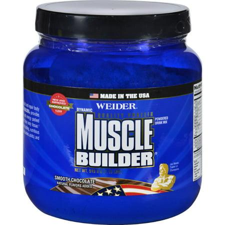 Weider Global Nutrition Muscle Builder   Dynamic   Powder   Chocolate   1 15 Lb