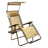 Gravity Free Chair wsun-shade and cup tray
