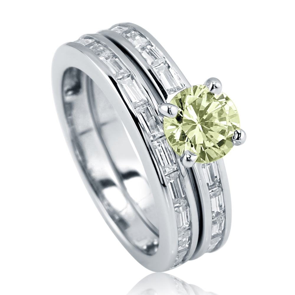Berricle Rhodium Plated Sterling Silver Cubic Zirconia CZ...