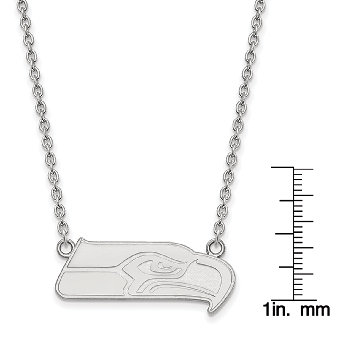 Sterling Silver I Love Jazz 1 inch wide Word Pendant.