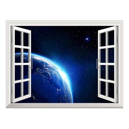 wall26 Removable Wall Sticker Wall Mural Earth with Blue Shining in U