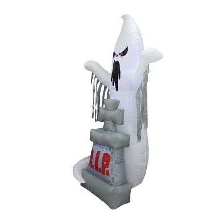 The Holiday Aisle Halloween Inflatable Grave Scene with Ghost and - Halloween Hospital Scene