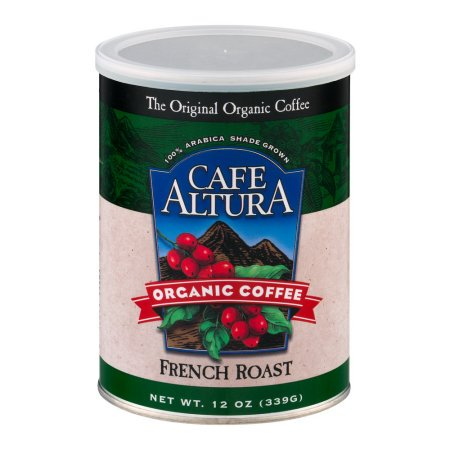 Caf? Altura Organic French Roast Ground Coffee, 12 Oz