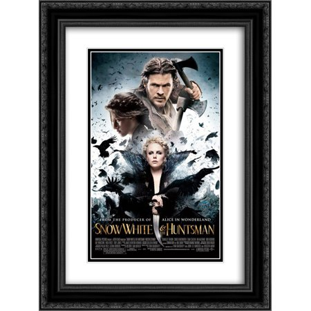 Snow White and the Huntsman 18x24 Double Matted Black Ornate Framed Movie Poster Art Print