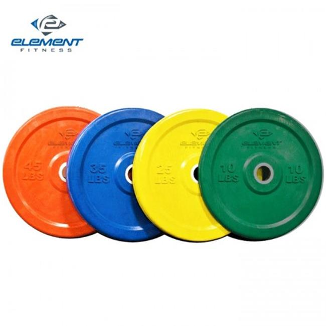 Element Fitness E-200-CRP25 Commercial Colored Bumper Plates, 25 lbs.