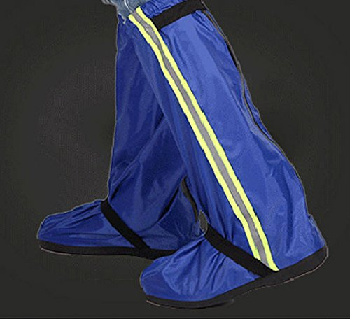 Adult Waterproof Shoe Covers Reusable Slip-resistant Rain Boots Cover XL Blue