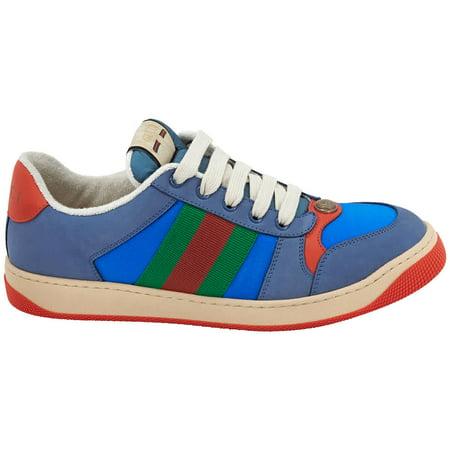 Gucci Men's Screener Suede Sneakers in Blue