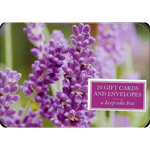 Lavender: 20 Gift Cards and Envelopes