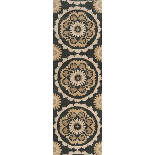 "Art of Knot Munford 2'6"" x 8' Black Runner"