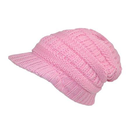 78bf1c51eeb6c9 CTM - Women's Throwback Chunky Knit Slouchy Beanie Hat - Walmart.com
