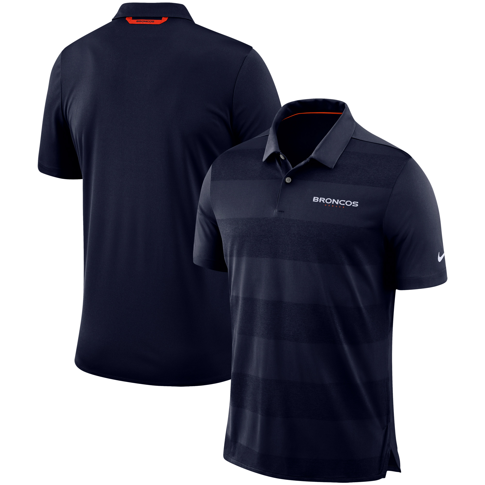 Denver Broncos Nike Sideline Early Season Wordmark Performance Polo - Navy
