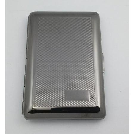 Visol  Mason Gun-Metal Plated Scale Stamped Pattern Cigarette Case - Holds 7 Regular Sized Cigarettes (Gold Metal Cigarette Case)