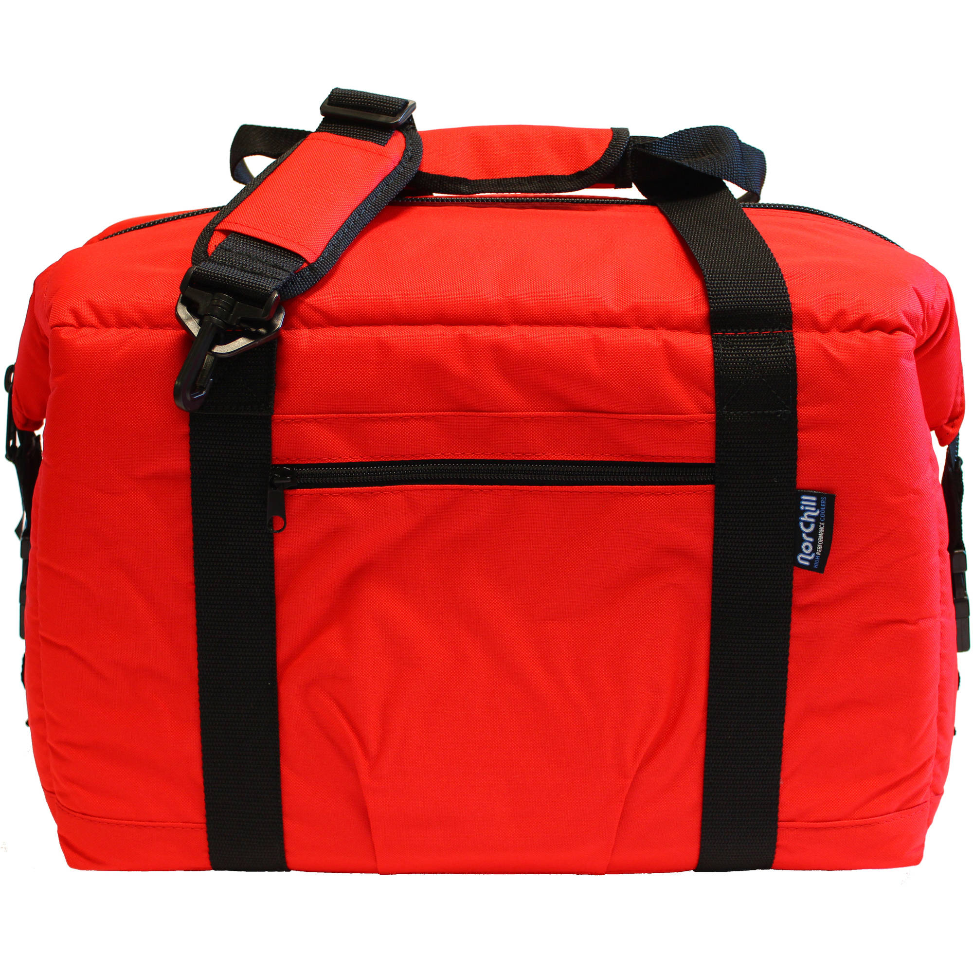 NorChill Voyager Series 12-Can Cooler Bag- Red