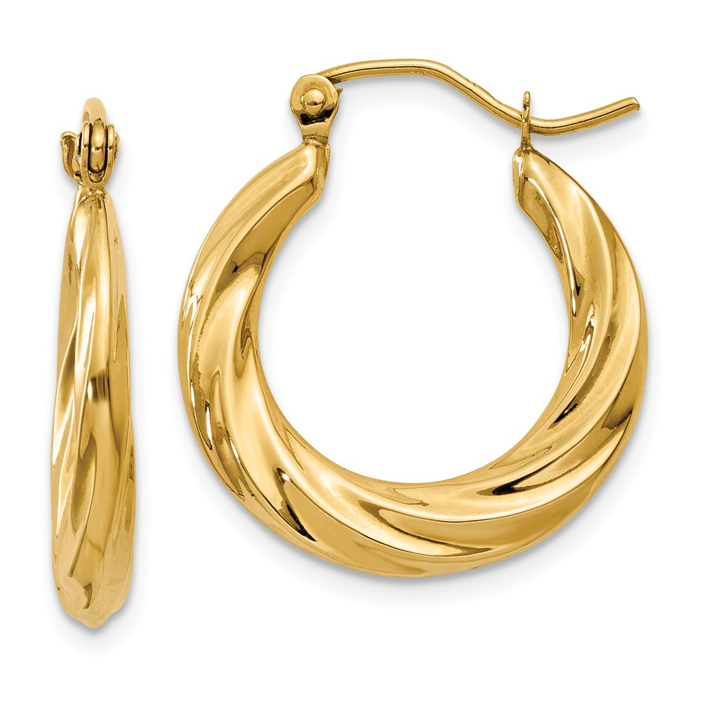ICE CARATS ICE CARATS 14kt Yellow Gold Twisted Hoop Earrings Ear Hoops Set Fine Jewelry Ideal Gifts For Women Gift Set... by IceCarats Designer Jewelry Gift USA