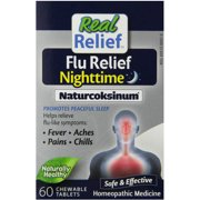 Homeolab Usa Real Relief Flu Relief Nighttime Naturcoksinum Tablets, 60 CT