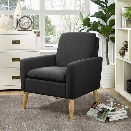 Modern Leisure Living Room Chair with Armrest and Bonus Soft Cushion ...