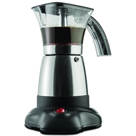 Brentwood Electric 6 Cup Moka Espresso Maker in Silver 6.5