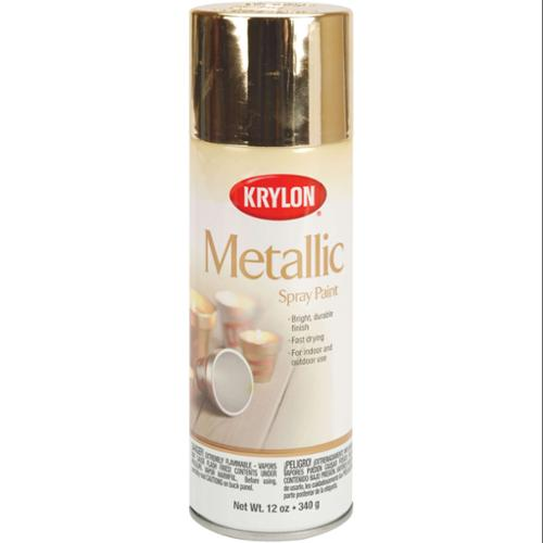 Metallic Spray Paint 12 Ounces-Gold