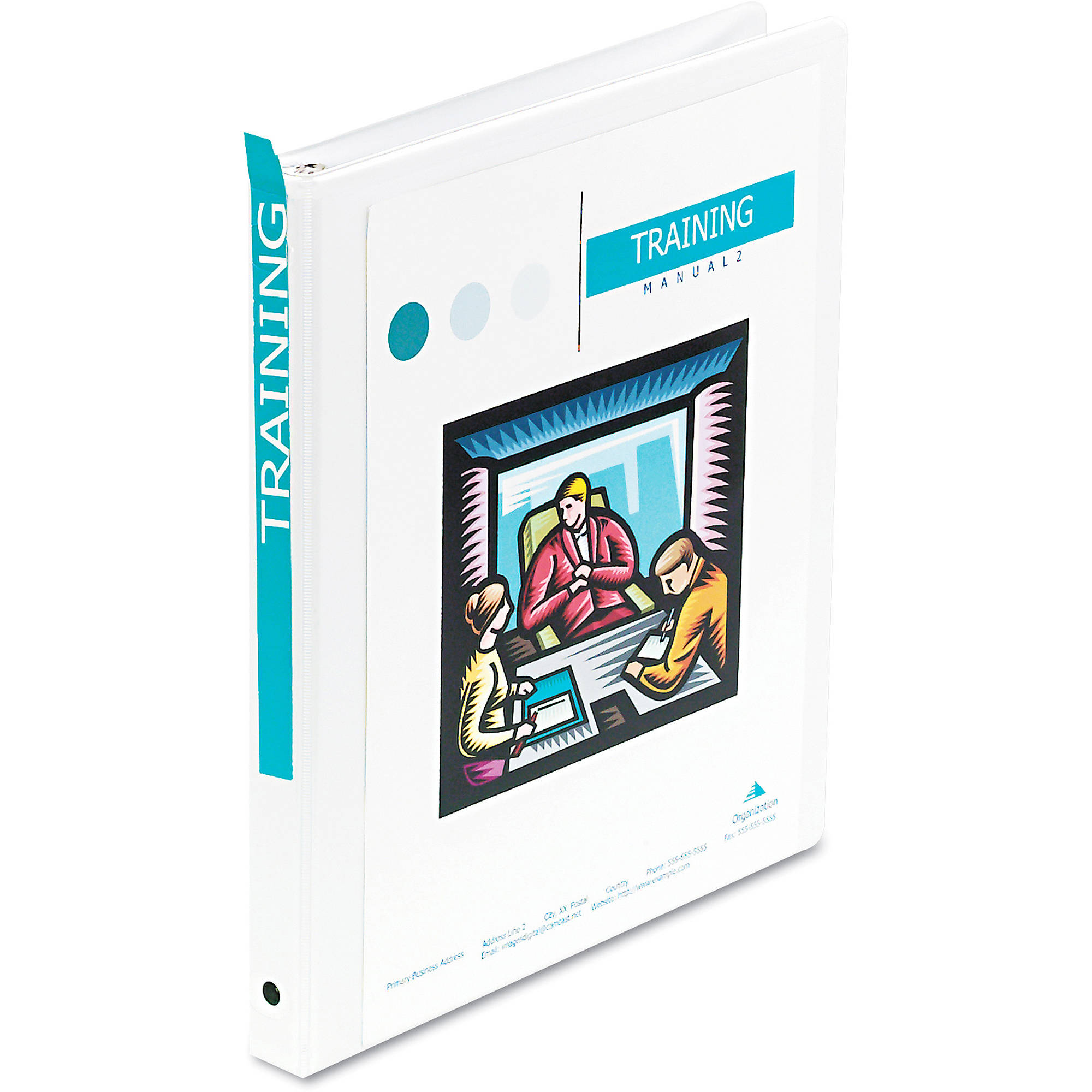 Wilson Jones Economy Vinyl Round Ring View Binder, White, Available in Multiple Sizes