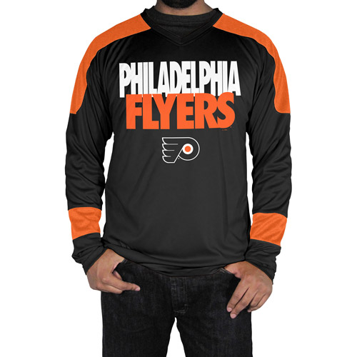 NHL Philadelphia Flyers, Mens Synthetic Long Sleeve V Neck