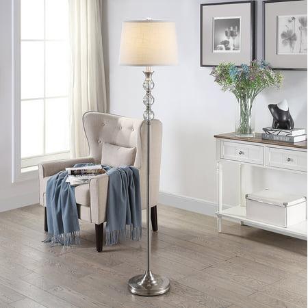 Harlow Tapered Drum Floor Lamp, Brushed Nickel