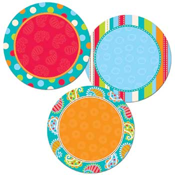 """DOTS ON TURQUOISE DOTS 1"""" DESIGNER CUT-OUTS"""