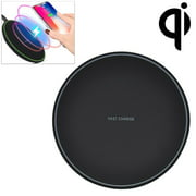 Fast Wireless Charger Charging Pad for iPhone 8 / 8 Plus, iPhone X, Nexus 5 / 6 / 7, and Other Devices, Provides Fast-Charging for Galaxy S8/ S8+/ S7 / S7 edge / S6 edge+, and Note 5 - Black