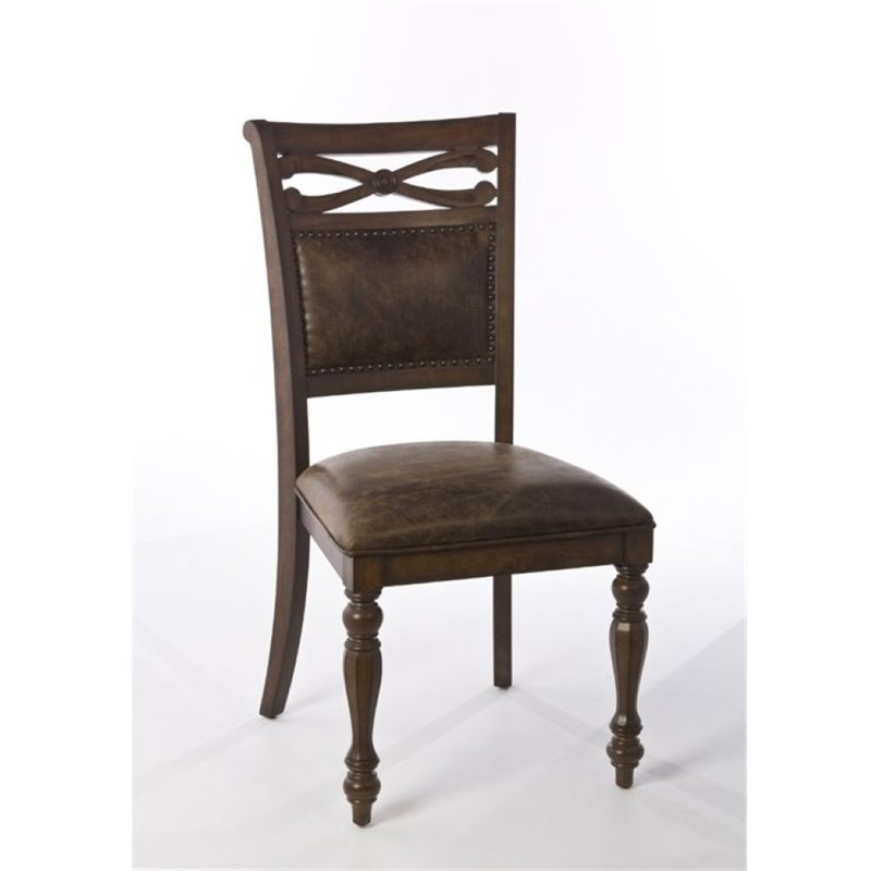 Bowery Hill Dining Side Chair in Weathered Walnut (Set of 2)