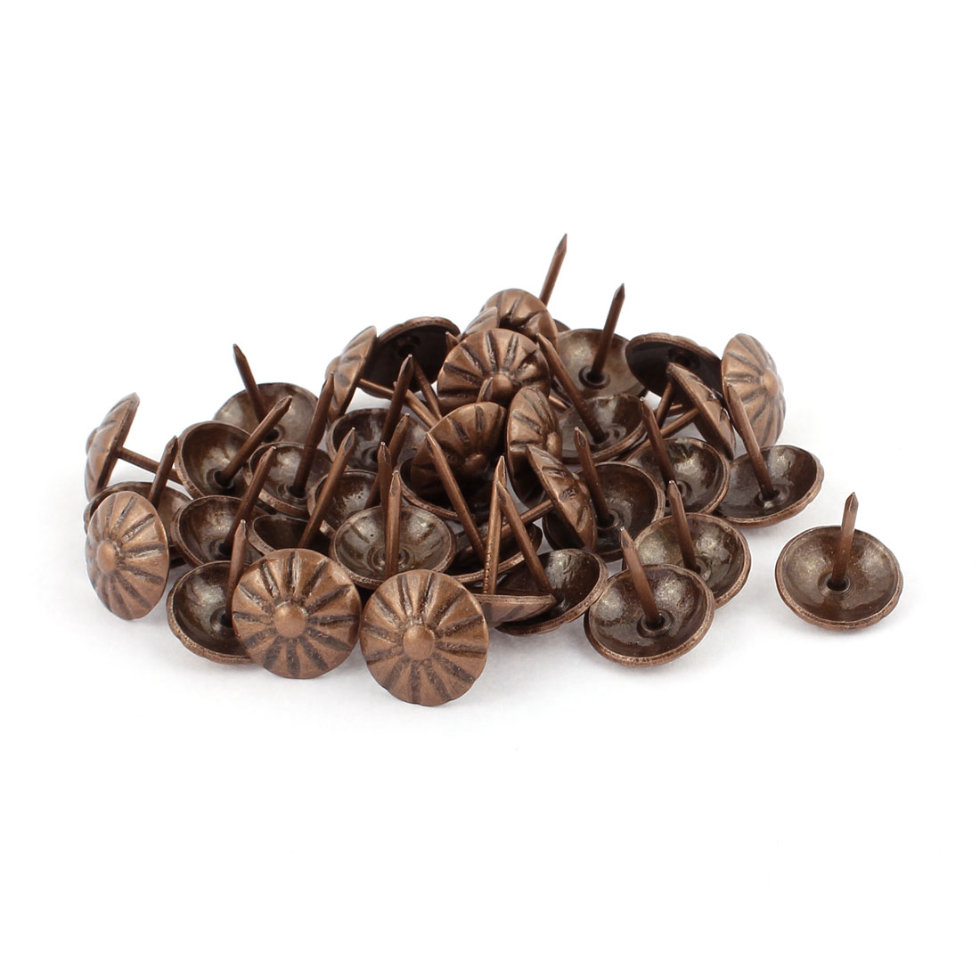 16mm Dia Daisy Upholstery Nail Thumb Tack Pushpin Doornail Copper Tone 40PCS