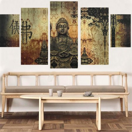 Huge Buddha Abstract Canvas Art Oil Painting Modern Home Wall Decor ...