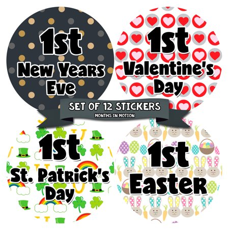 My First Holiday Baby Stickers Milestone Christmas, Birthday, Halloween, Easter, Thanksgiving Baby Sticker