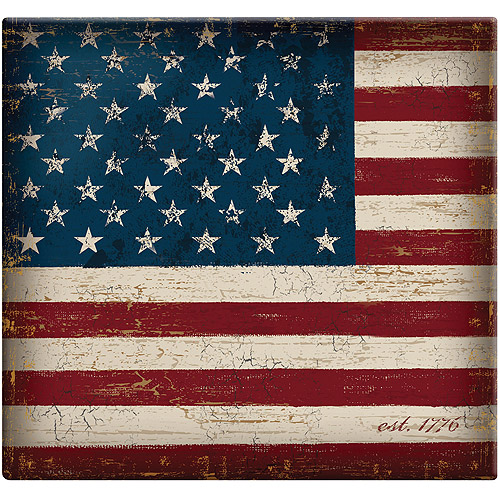 MCS 860105 Vintage Flag 12 by 12-Inch Page Top Load Scrapbook Multi-Colored
