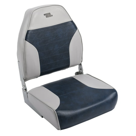 Wise 8WD588PLS-660 Standard High Back Boat Seat, Grey / Navy ()