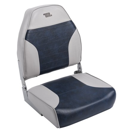 Foam For Boat Seats - Wise 8WD588PLS-660 Standard High Back Boat Seat, Grey / Navy