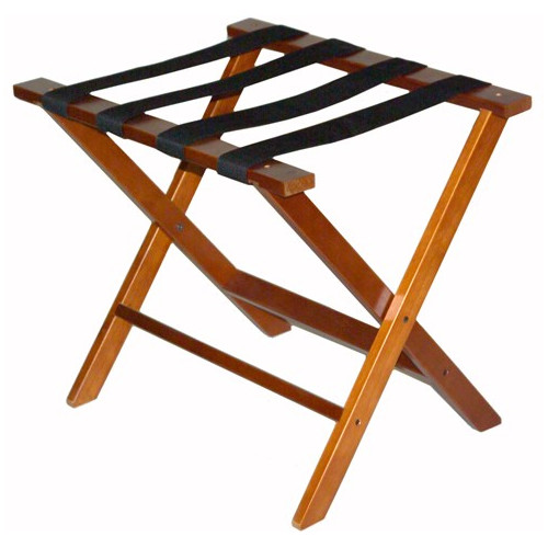 Central Specialties LTD Wood Luggage Rack with Strap