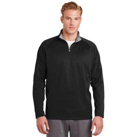 Sport-Tek® Sport-Wick® Fleece 1/4-Zip Pullover.  F243 Black/Silver 2Xl - image 1 de 1