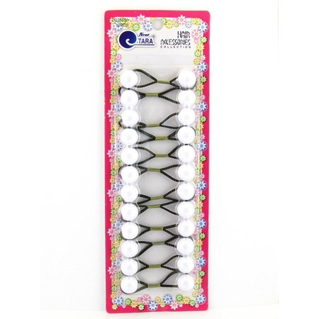 Girls Twinbead Bubble Ponytail Holders - 12 Pcs., Keeps Hair Up & Out Of Your Face By Tara Ship from US (Hair Baubles)