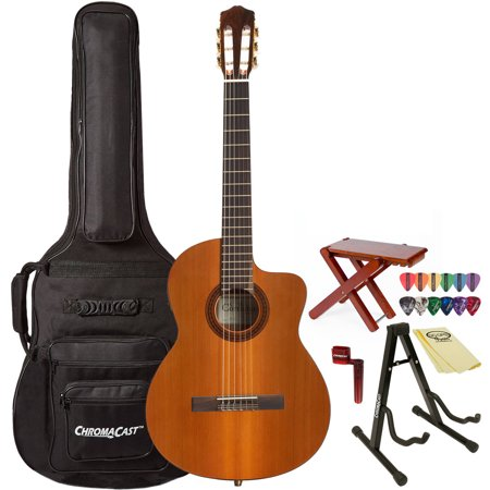 Cordoba C5-CE Acoustic Guitar with ChromaCast Acoustic Guitar with ChromaCast Gig Bag and Accessories