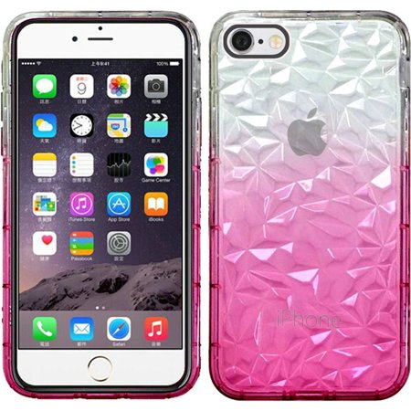 Apple iPhone 6 Plus phone case iphone 6s Plus phone Case, by Insten Two Tone Diamond Pattern Rubber TPU Transparent Case Cover For Apple iPhone 6 Plus/6s Plus ()