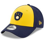 Milwaukee Brewers New Era Alternate The League 9FORTY Adjustable Hat - Gold/Navy - OSFA